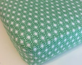 Kelly Green and White Oval Fitted Crib Sheet