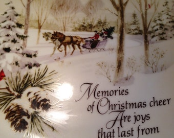 1974 Memories of Christmas Collector's Plate by Robert Laessig