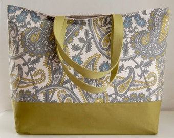 Paisley Summerland XL Extra Large Beach Bag / BIG Tote Bag - Ready to Ship