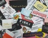 1,200pcs Custom Boutique Clothing Damask Woven Labels (Artwork) for Hoodies, Socks, T-Shirts, Tops, Bottoms, Capris, Pants, Jeans, Skirts