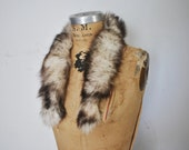 Fox Fur Collar / genuine fur / 1980s