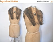 SALE Raccoon Fur Collar / genuine fur