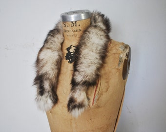 Fox Fur Collar / genuine fur / 1980s