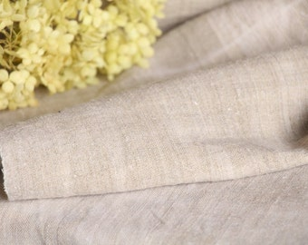 RW 442 antique handloomed laundered 3.49 yards french 리넨 two-toned upholstering curtain projects wedding GREYISH BROWN