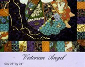 Sewing Pattern - Victorian Angel - Easy Angel Quilt - Victorian Quilt - Crazy Quilt