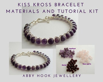 Kiss Kross Bracelet Materials and Tutorial Kit - Wire jewelry bracelet kit