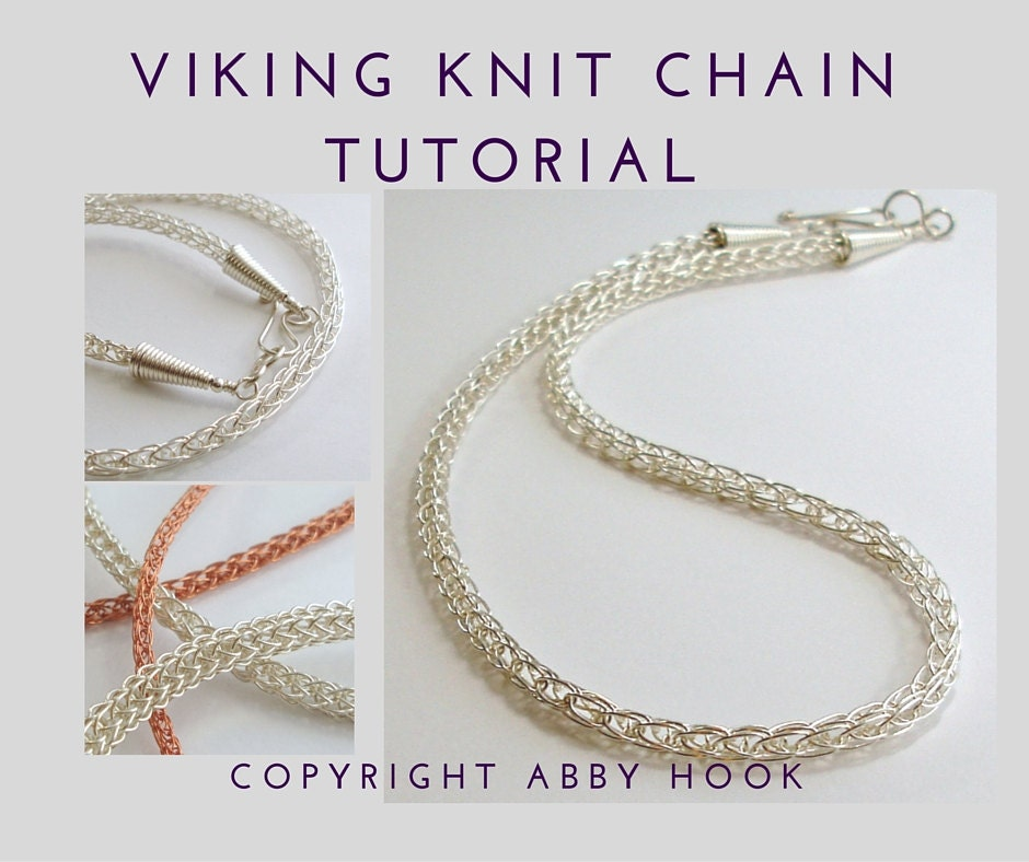 Viking Knit Chain Wire Jewelry Tutorial Pdf File Instant