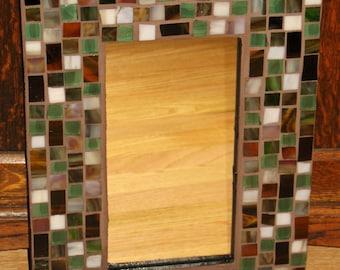 Rustic II Mosaic Mirror
