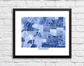 Albuquerque New Mexico Art Map Print.  Color Options and Size Options Available.  Map of Albuquerque NM.