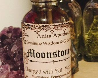 Moonstone Oil-Feminine Wisdom and Goddess Energy-Witchcrafted