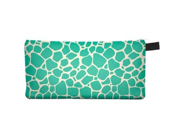 Green Giraffe Pencil Case - Free shipping USA and Canada