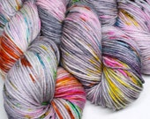 Speckled Yarn - Squish DK - 250 yards -  Hand Dyed Superwash Merino Yarn - Distortion