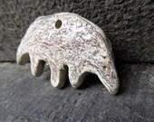 Reserved for Sue C - Artisan made ceramic pendant - Primitive Anteater
