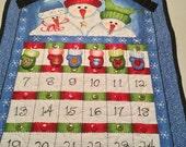Snowmen Advent Calendar Ready to Ship