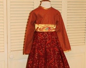 Red and Gold Embroidered Dress