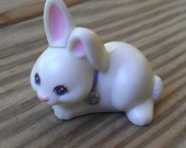 Littlest Pet Shop - White Bunny - white rabbit - vintage pet shop - vintage littlest pet shop bunny - vintage bunny - vintage girls toys