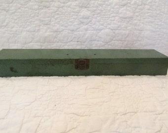 Vintage Tool Box Green Metal SALE