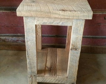 Custom Barn Wood End Table, Night Stand, or Side Table FREE SHIPPING CBWET175F