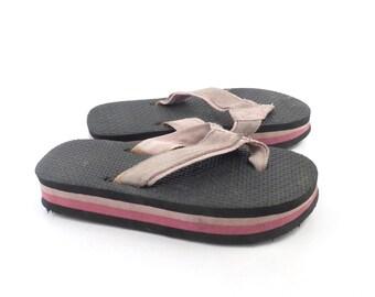 1980s Flip Flops Vintage Thongs Pink Sandals Kid's Toddler Children's