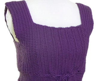 Women Purple Top Empire Style