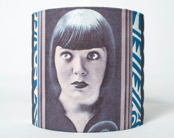Deco Girl Silent Movie Lampshade