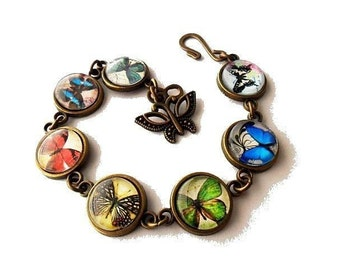 Whimsical Butterfly Glass Bracelet