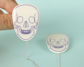 Skull Cardigan Pins