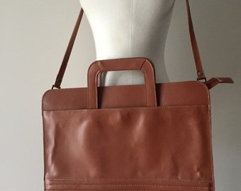 vintage HAMILTON leather messenger bag / leather messenger bag Satchel