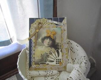 Handmade Friendship Card - Vintage-style Card