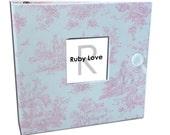 BABY BOOK | Vintage Jamestown Pink Toile Album - Vintage Baby Memory Book