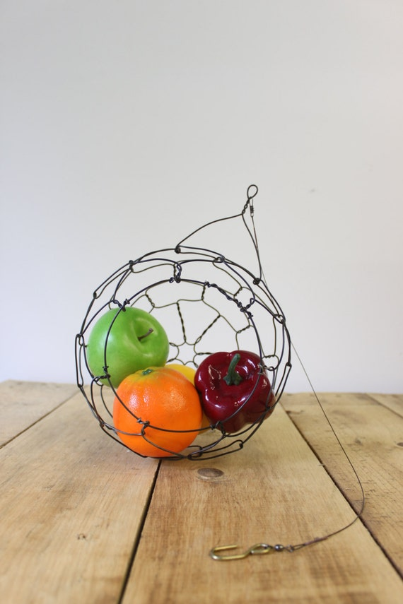 Hanging Basket,  Wire Basket, Fruit, Small