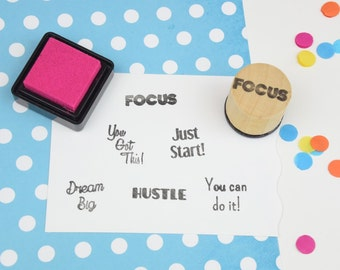Handmade Focus Motivational Stamp