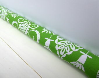 Green Door Draft Stopper - Unique Home Decor - Door Snake - Modern Home Decor - Bold Green Print. 31.
