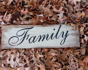 Family Hand Painted Sign