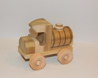 Wooden Toy Ford T Tank Truck - Car