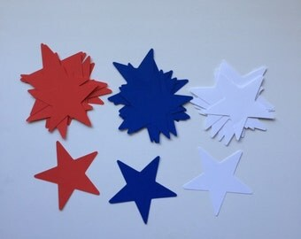 """3"""" Red White Blue Stars / Patriotic / 4th of July / America / Confetti / Military / Table Scatter"""
