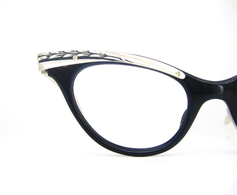 vintage cat eye glasses 1950s eyeglasses frame beautiful
