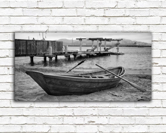 Black Gate Wall Decor : Items similar to wooden rowboat nautical decor san