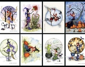8 Little Witches postcard set 4x6 by Amy Brown