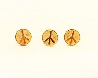 Peace Sign Pin, Peace Sign, Pin Set, Pin, Peace Pin, Gold Pin, Gold Pin Set, Vintage Pin Set, Small Pin, Tie Tac, Gold Tie Tac, Peace Symbol