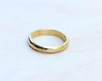 Hammered Band Ring - Size 3