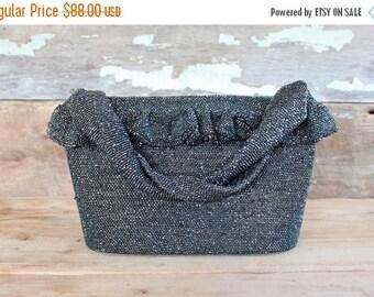 SALE 1940s beaded handbag // CARNIVAL GLASS // 40s beaded purse