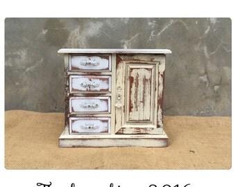 Jewelry Box - Jewelry Armoire - Jewelry Organizer - Jewelry Holder - Jewelry Box - Music Box - Shabby Chic Decor - CHIC