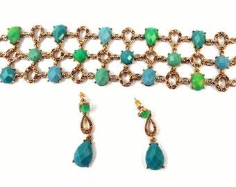Liz Claiborne Bracelet Earrings Set