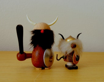 mid century danish viking figurines