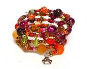 CHERRY BRANDY coil Beaded Bracelet by Beading Divas Fundraiser