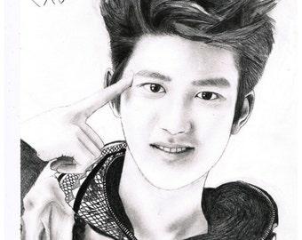 EXO D.O Do Kyungsoo Art Print Fanart