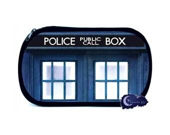 Blue Police Call Box Cosmetic Bag