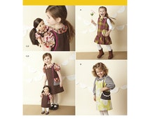 """Girls' Dresses and 18"""" Dolls Matching Dresses - Simplicity 1289 - New Sewing Pattern, Sizes 3, 4, 5, 6, 7, and 8"""