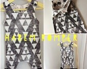 Stacked Triangles with Panda or Moosehead Harem Romper